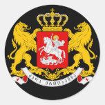 escudo de armas de Georgia Pegatina Redonda