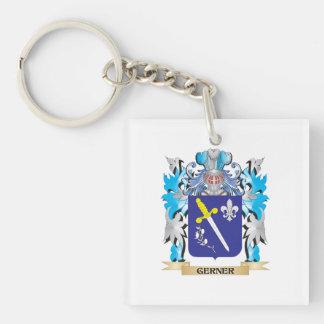 Escudo de armas de Gerner - escudo de la familia Llavero Cuadrado Acrílico A Una Cara