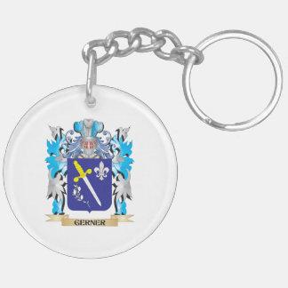 Escudo de armas de Gerner - escudo de la familia Llavero Redondo Acrílico A Doble Cara