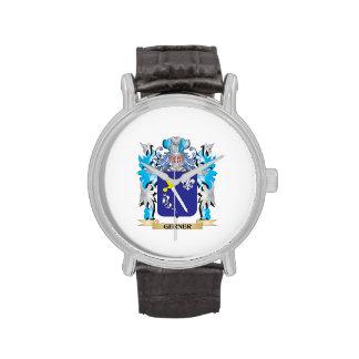 Escudo de armas de Gerner - escudo de la familia Relojes De Mano
