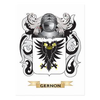 Escudo de armas de Gernon (escudo de la familia) Postales