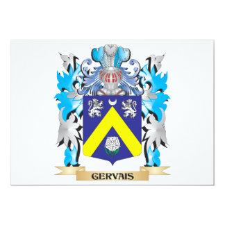 """Escudo de armas de Gervais - escudo de la familia Invitación 5"""" X 7"""""""