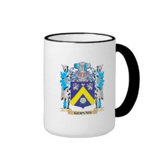 Escudo de armas de Gervais - escudo de la familia Taza A Dos Colores