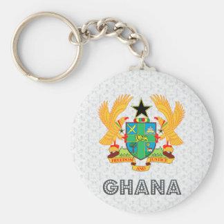 Escudo de armas de Ghana Llavero Redondo Tipo Pin