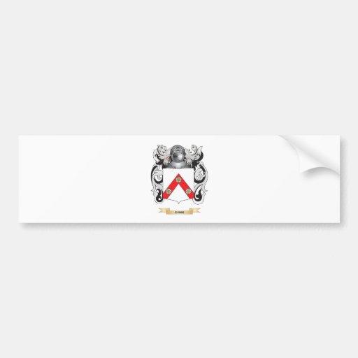 Escudo de armas de Gibbe (escudo de la familia) Pegatina Para Auto
