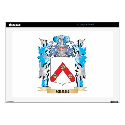 Escudo de armas de Gibbe - escudo de la familia Portátil Skin