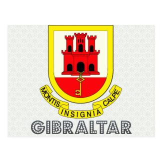 Escudo de armas de Gibraltar Tarjeta Postal