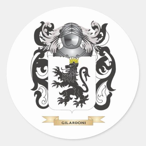Escudo de armas de Gilardoni (escudo de la familia Etiquetas Redondas