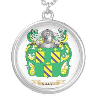 Escudo de armas de Gillet (escudo de la familia) Colgante Redondo