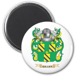 Escudo de armas de Gillet (escudo de la familia) Imán Redondo 5 Cm