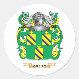 Escudo de armas de Gillet (escudo de la familia) Pegatina Redonda