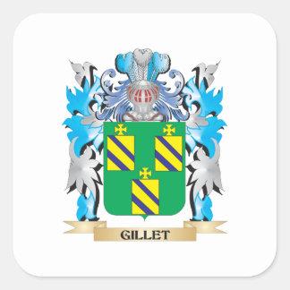 Escudo de armas de Gillet - escudo de la familia Pegatina Cuadrada