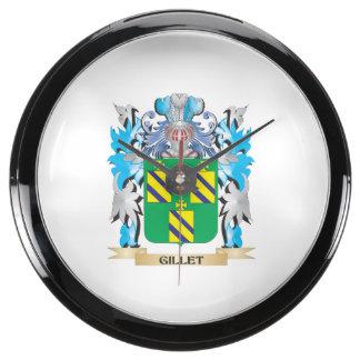 Escudo de armas de Gillet - escudo de la familia Relojes Acuario