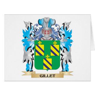 Escudo de armas de Gillet - escudo de la familia Tarjeta De Felicitación Grande