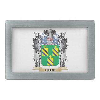 Escudo de armas de Gillig - escudo de la familia Hebillas Cinturón Rectangulares