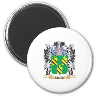 Escudo de armas de Gillig - escudo de la familia Imán Redondo 5 Cm