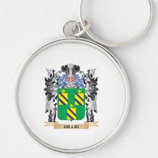 Escudo de armas de Gillig - escudo de la familia Llavero Redondo Plateado