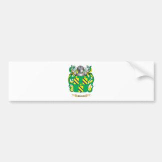 Escudo de armas de Gillig (escudo de la familia) Pegatina Para Auto