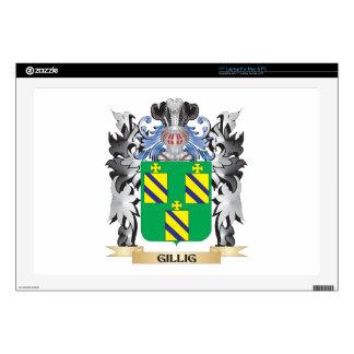 Escudo de armas de Gillig - escudo de la familia Skins Para 43,2cm Portátiles