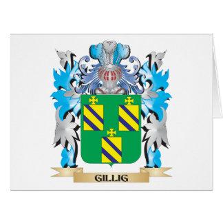 Escudo de armas de Gillig - escudo de la familia Tarjeta De Felicitación Grande