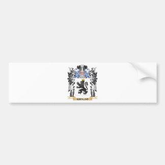 Escudo de armas de Giraldo - escudo de la familia Pegatina Para Auto