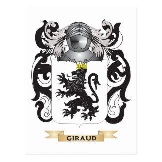 Escudo de armas de Giraud (escudo de la familia) Postal