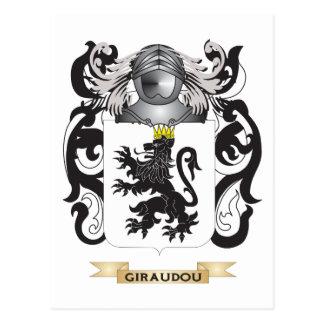 Escudo de armas de Giraudou (escudo de la familia) Postal