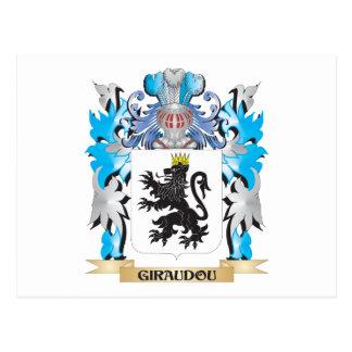 Escudo de armas de Giraudou - escudo de la familia Postal