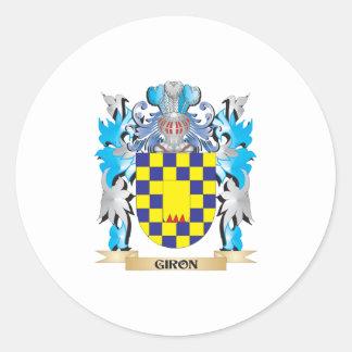Escudo de armas de Giron - escudo de la familia Pegatina Redonda