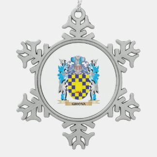 Escudo de armas de Girona - escudo de la familia Adorno De Peltre En Forma De Copo De Nieve