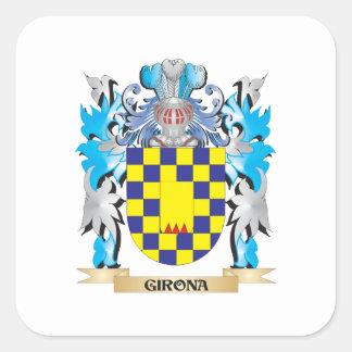 Escudo de armas de Girona - escudo de la familia Pegatina Cuadrada
