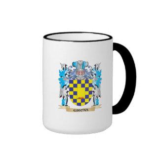 Escudo de armas de Girona - escudo de la familia Taza A Dos Colores