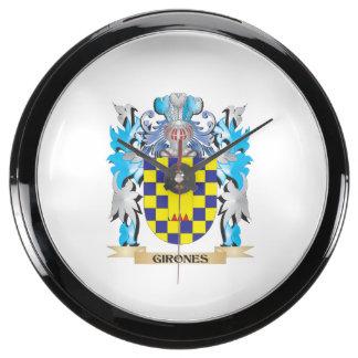 Escudo de armas de Girones - escudo de la familia Reloj Acuario