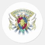 Escudo de armas de Globby Pegatina Redonda
