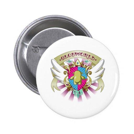 Escudo de armas de Globby - rosa Pin