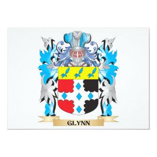 Escudo de armas de Glynn - escudo de la familia Invitación 12,7 X 17,8 Cm