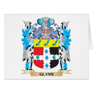 Escudo de armas de Glynn - escudo de la familia Tarjeta De Felicitación Grande