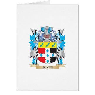 Escudo de armas de Glynn - escudo de la familia Tarjeta De Felicitación