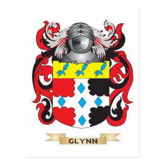Escudo de armas de Glynn (escudo de la familia) Postal