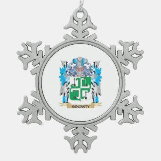 Escudo de armas de Gogarty - escudo de la familia Adorno De Peltre En Forma De Copo De Nieve