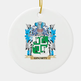 Escudo de armas de Gogarty - escudo de la familia Adorno Navideño Redondo De Cerámica