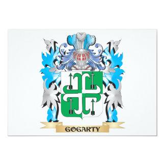 """Escudo de armas de Gogarty - escudo de la familia Invitación 5"""" X 7"""""""