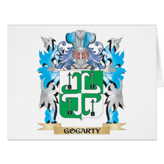 Escudo de armas de Gogarty - escudo de la familia Tarjeta De Felicitación Grande