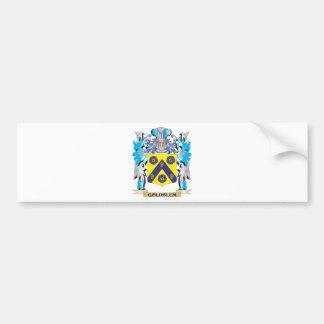 Escudo de armas de Goldblum - escudo de la familia Pegatina Para Coche