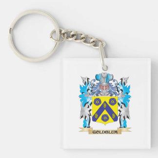 Escudo de armas de Goldblum - escudo de la familia Llavero Cuadrado Acrílico A Una Cara