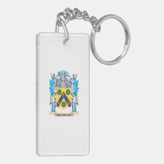 Escudo de armas de Goldblum - escudo de la familia Llavero Rectangular Acrílico A Doble Cara