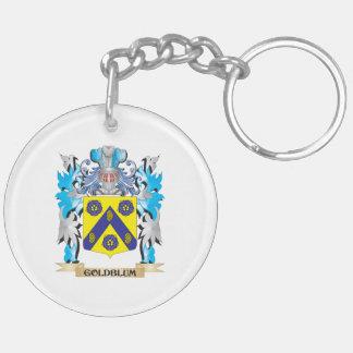 Escudo de armas de Goldblum - escudo de la familia Llavero Redondo Acrílico A Doble Cara