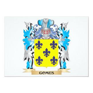 """Escudo de armas de Gomes - escudo de la familia Invitación 5"""" X 7"""""""