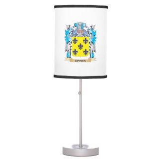 Escudo de armas de Gomes - escudo de la familia Lámpara De Mesilla De Noche