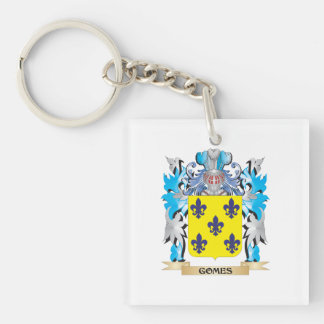 Escudo de armas de Gomes - escudo de la familia Llavero Cuadrado Acrílico A Una Cara